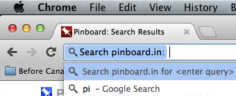 Pinboard as a Search Engine