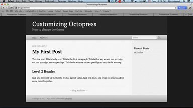 A Sample Octopress Site (click to enlarge)