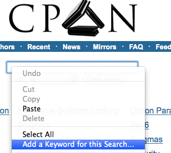 Adding a Keyword to the CPAN Search Box